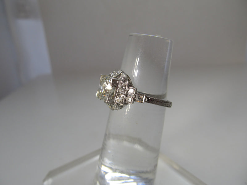 Antique platinum diamond ring
