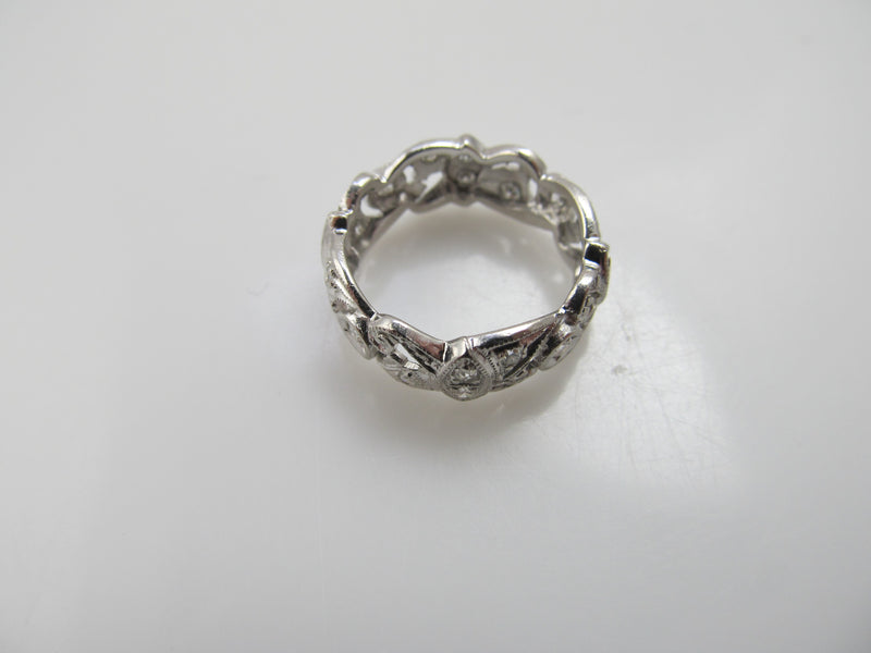 Vintage .50ct wide platinum eternity band
