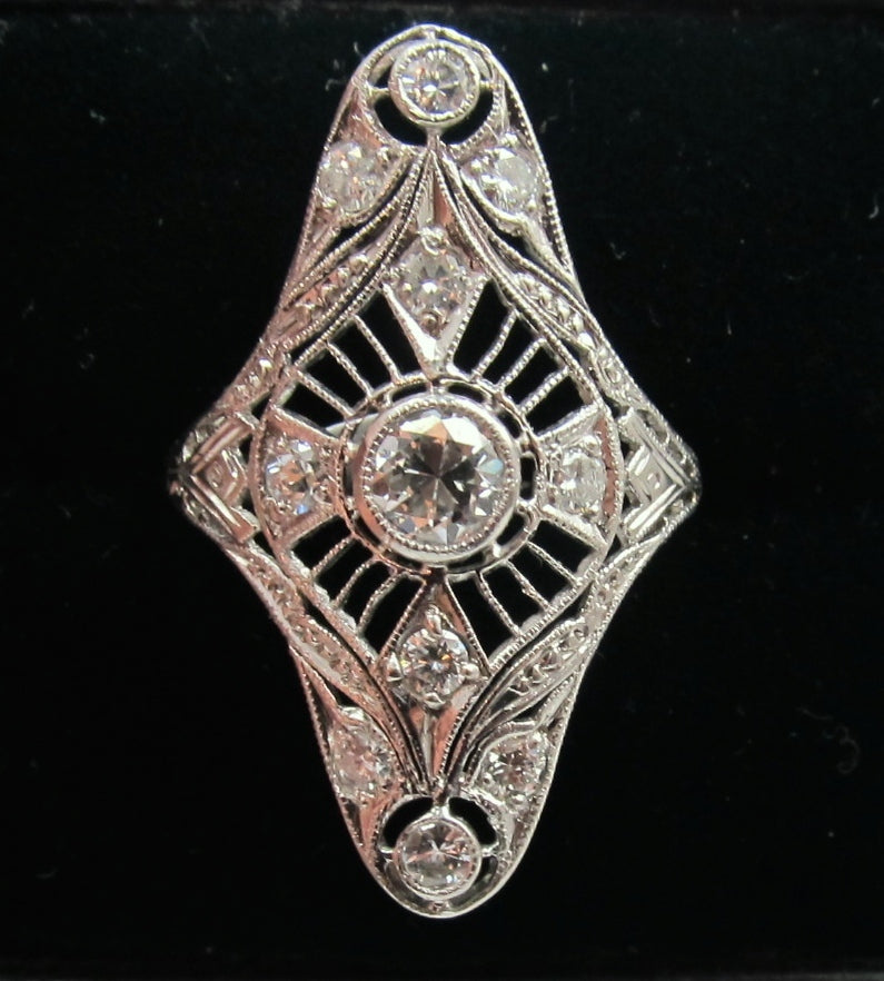 Vintage filigree diamond ring, victorious cape may