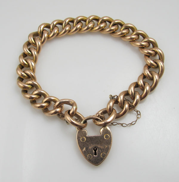 Rose gold curb chain bracelet, victorious cape may