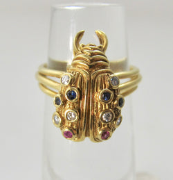 Neat vintage lady bug ring