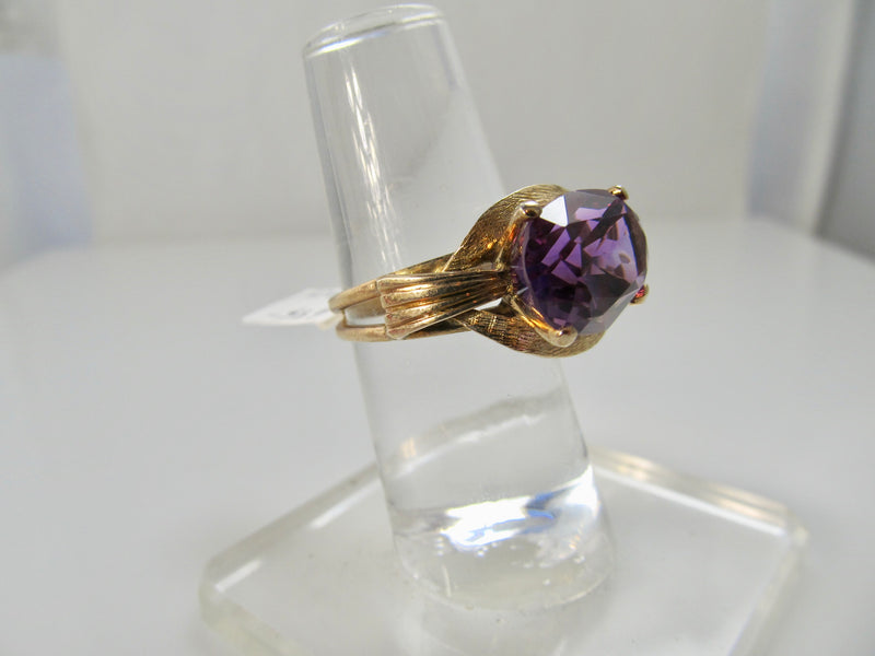 Vintage 3ct amethyst ring