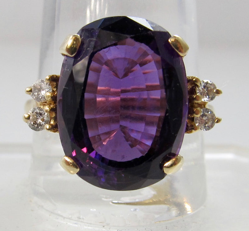 6.00ct amethyst and diamond ring
