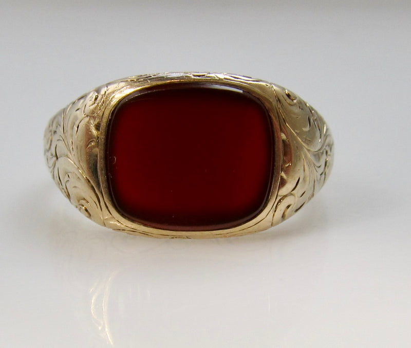 Antique engraved carnelian ring