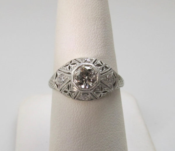 Antique filigree diamond ring
