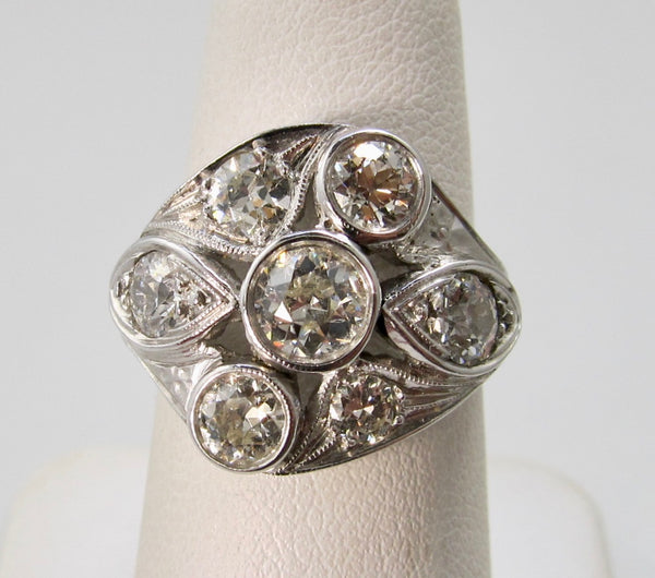 Vintage 3ct diamond cocktail ring