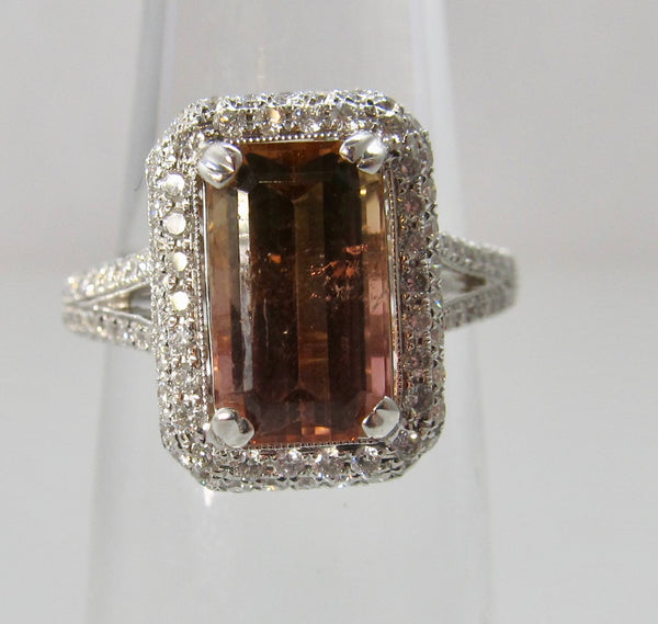 Cape May sunset tourmaline ring