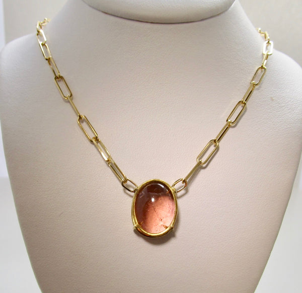 Cape May sunset tourmaline necklace