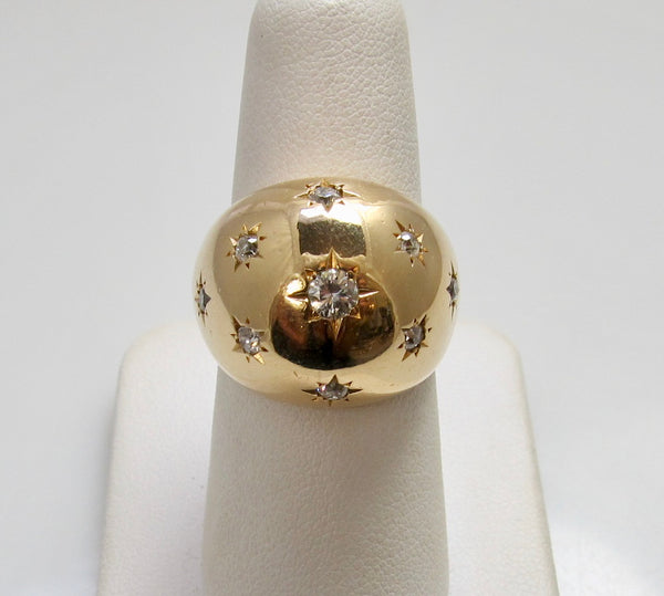 Vintage retro diamond dome ring