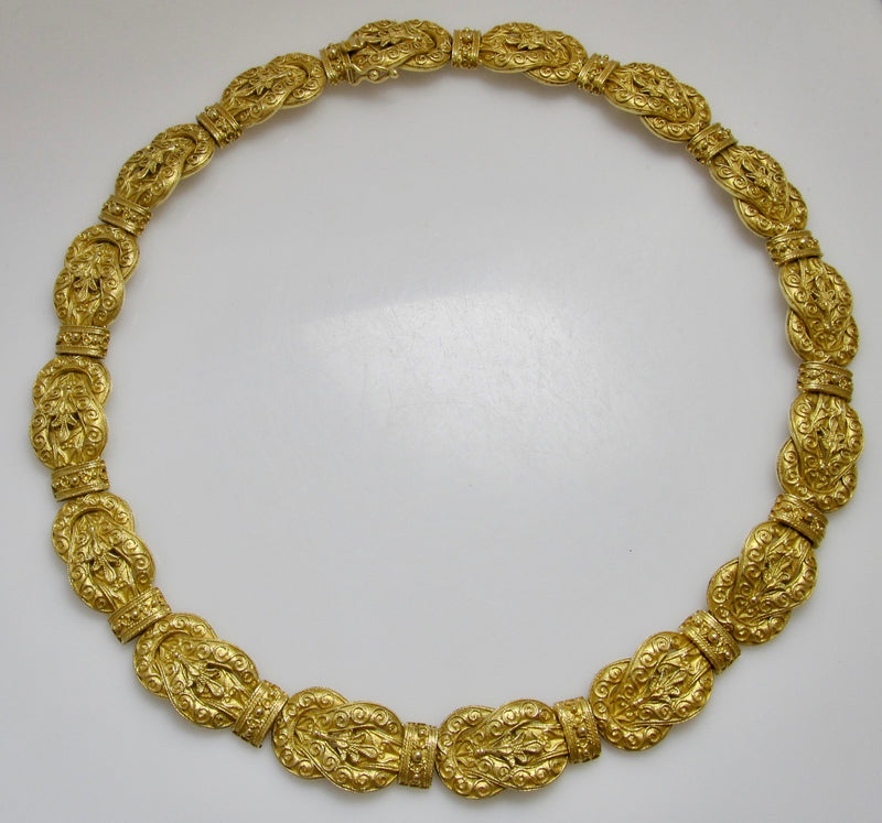 18k yellow gold statement necklace