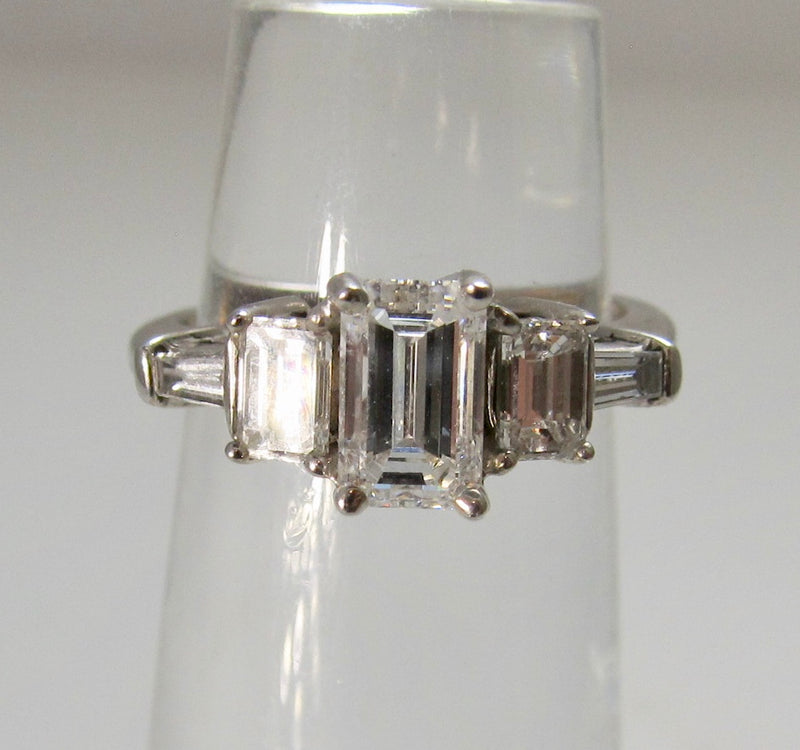 1.98ct emerald cut diamond ring