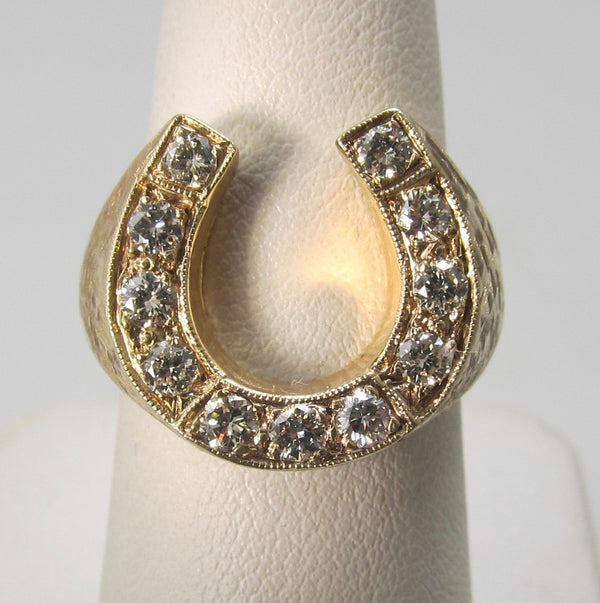 Vintage diamond horseshoe ring