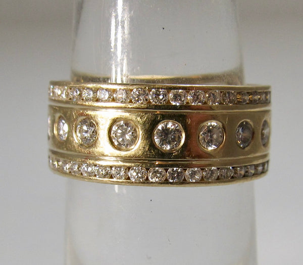 Handmade diamond eternity band