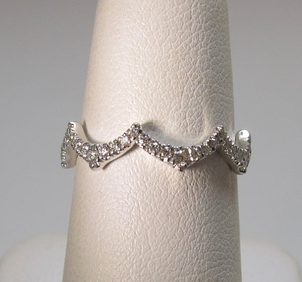 Gabriel & Co diamond wave ring