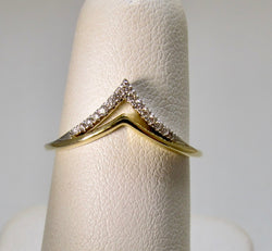 Gabriel & Co curved diamond band