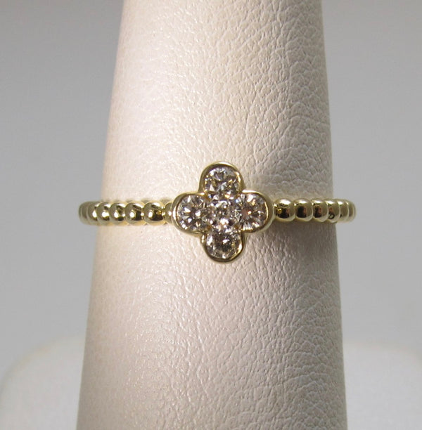 Gabriel & Co pave diamond ring
