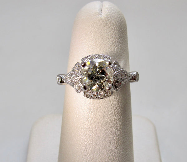 Gabriel & Co diamond engagement ring