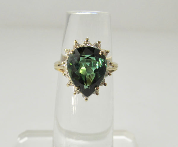 Gorgeous 3.50ct tourmaline diamond ring