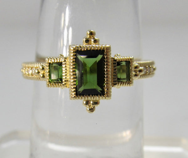 Judith Ripka tourmaline and diamond ring