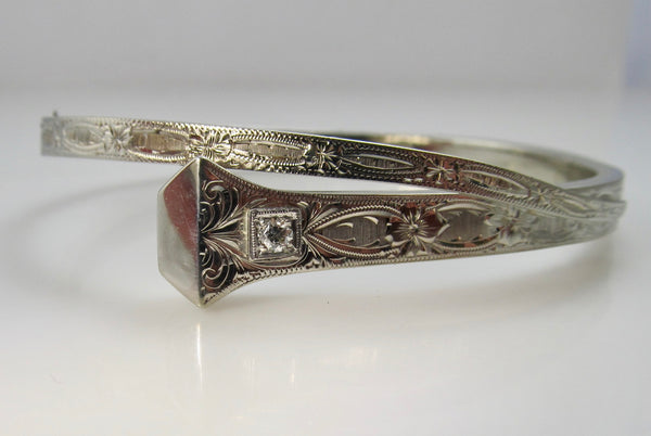 Antique equestrian nail bangle bracelet