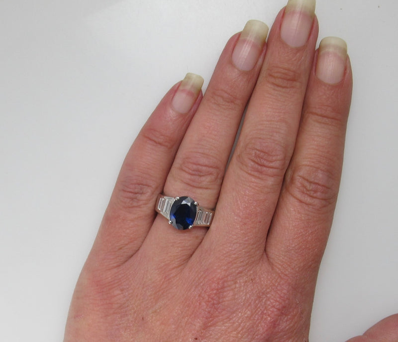 Gorgeous platinum and sapphire ring