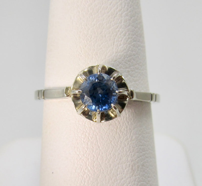 Victorious Cape May, antique jewelry, ceylon sapphire engagement ring