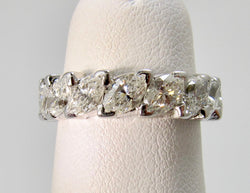 Platinum 2.40ct marquise eternity band
