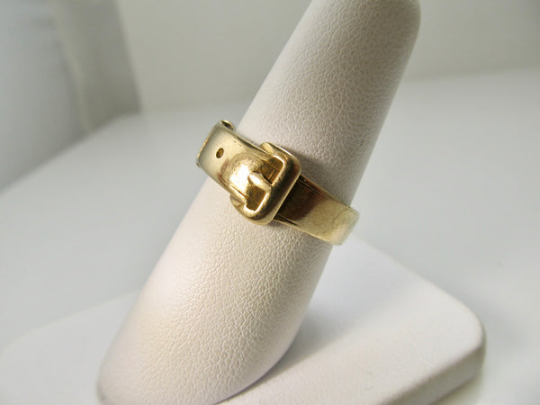Vintage yellow gold buckle ring
