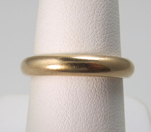 Dated 1898, 14k rose gold wedding band