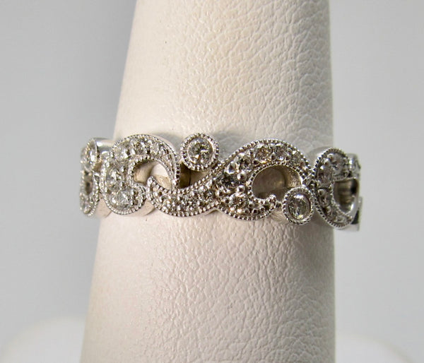 Gabriel & Co white gold diamond band