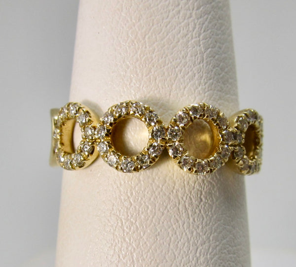 Gabriel & Co yellow gold circle band