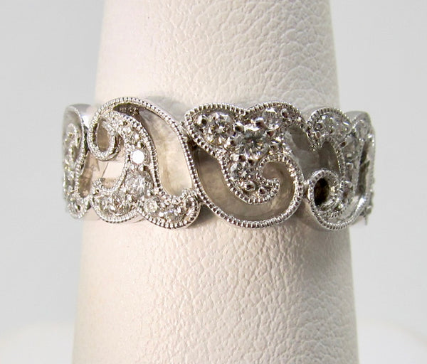 Gabriel & Co wide diamond band