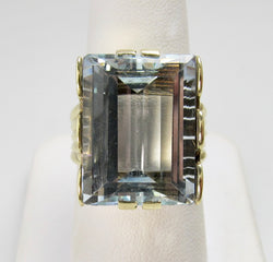 Vintage 17.00ct aquamarine ring