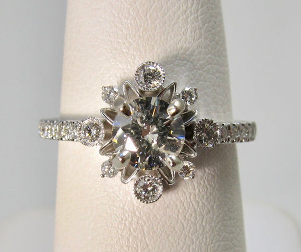 Gabriel & Co white gold diamond engagement ring