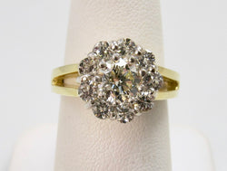 Vintage 1.86ct diamond cluster ring