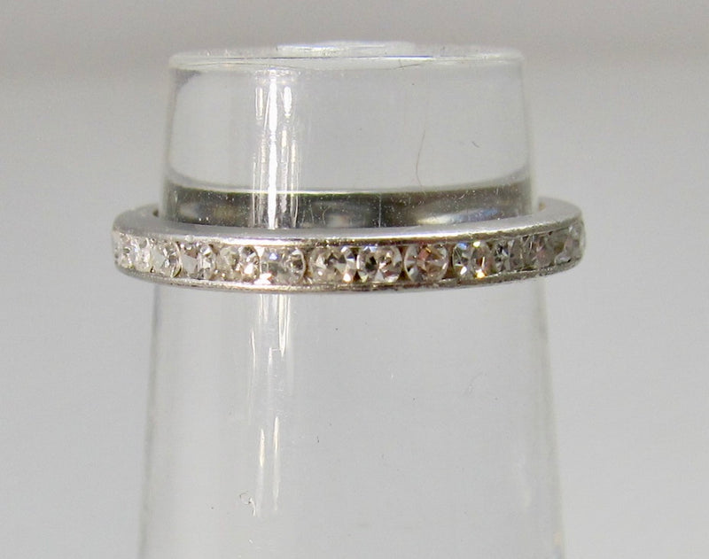 Antique diamond pinky ring in platinum