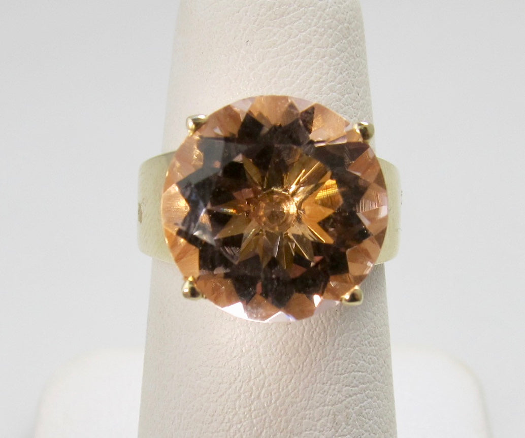 Victorious Cape May, morganite ring, antique estate jewelry