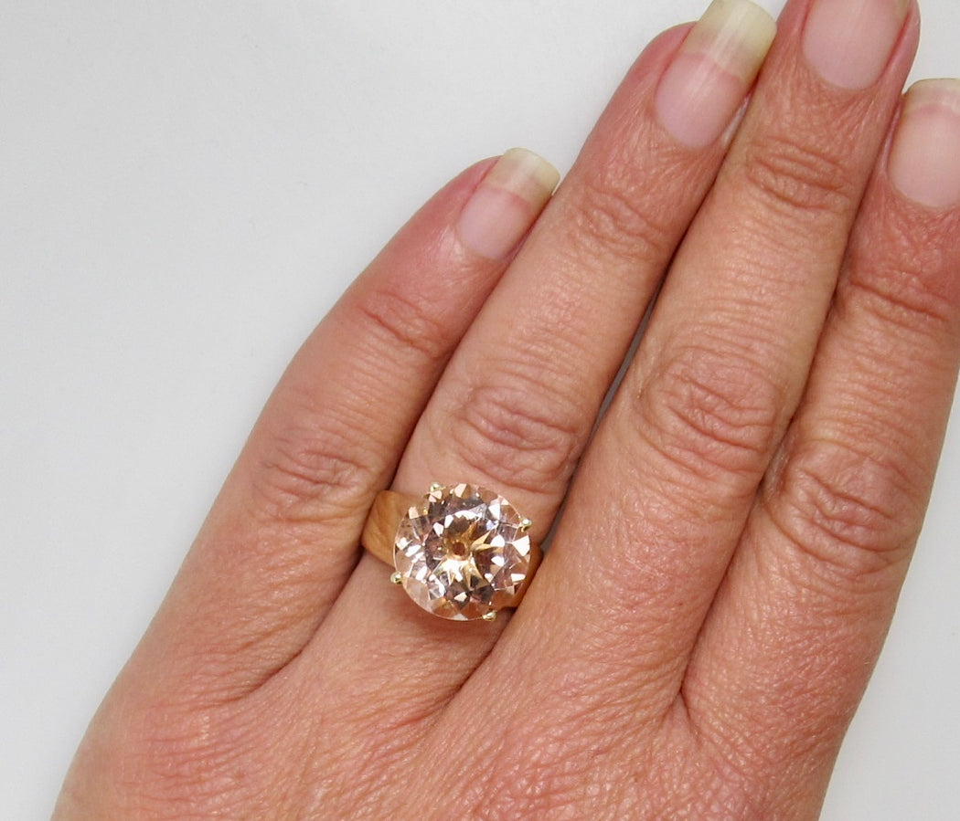 Huge 6.50ct morganite ring
