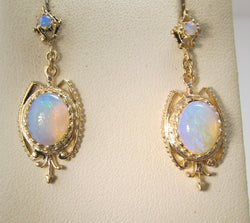 Vintage opal drop earrings