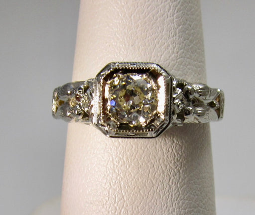 MUST SEE antique filigree diamond ring
