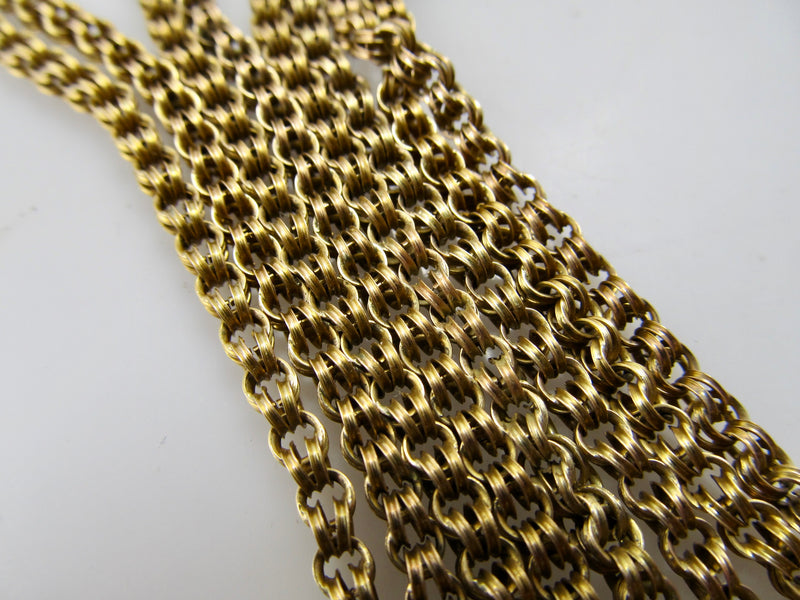 Long antique 14k yellow gold chain
