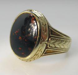 Art Deco bloodstone ring
