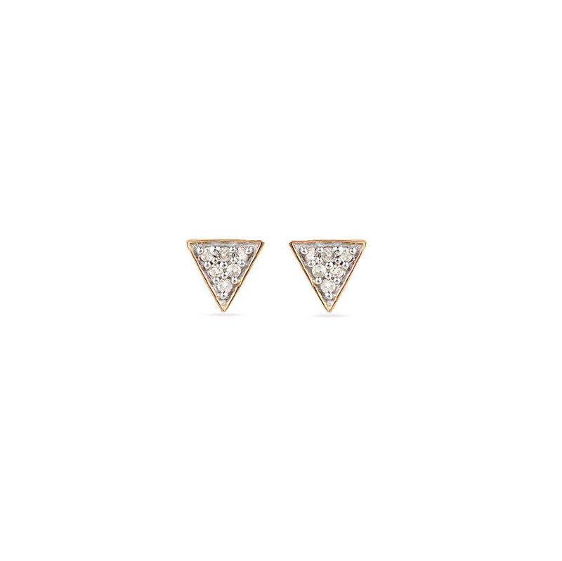Adina Reyter Triangle Posts Rose Gold