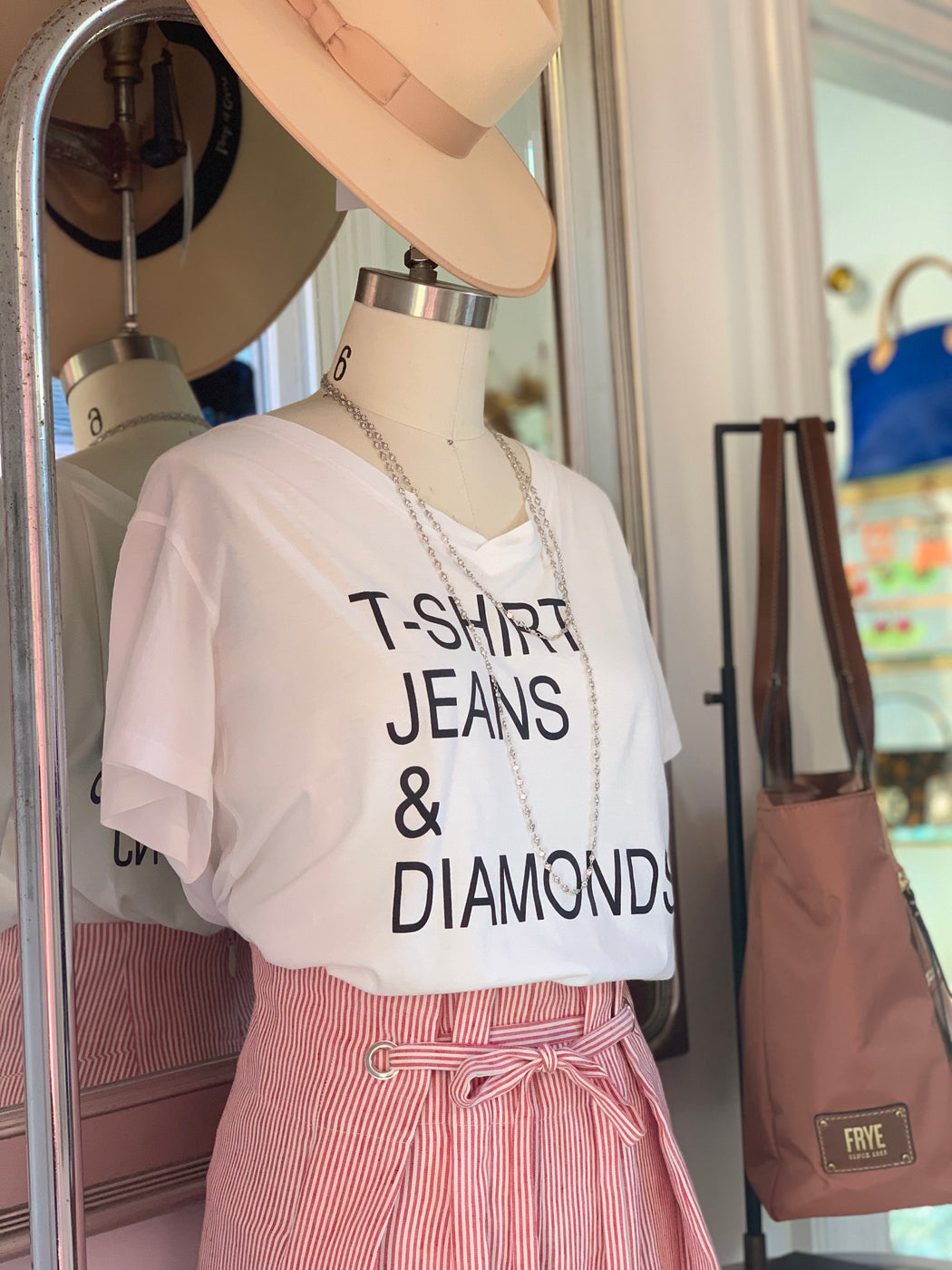 T shirt. Jeans. Diamonds. By Victorious T