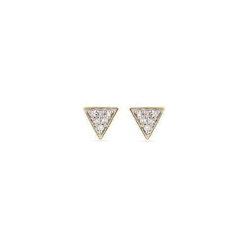 Adina Reyter Triangle Posts Yellow Gold