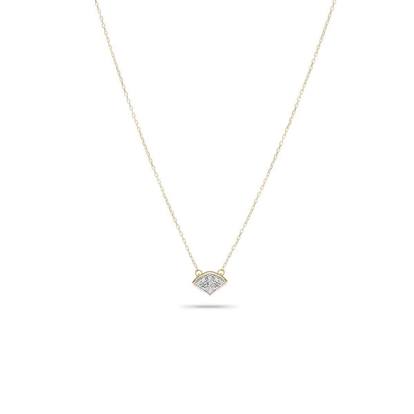Adina Reyter Super Tiny Pavé Folded Fan Necklace