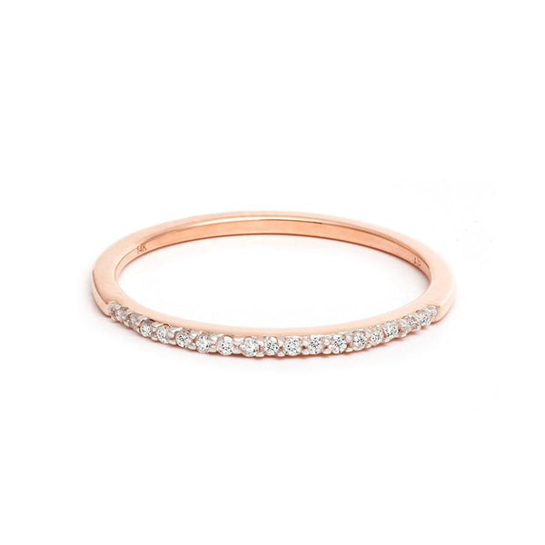 Adina Reyter Pavé Rose Gold Band