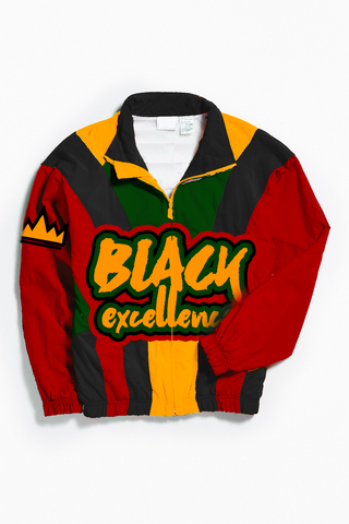 THROWBACK BLACK EXCELLENCE WINDBREAKER
