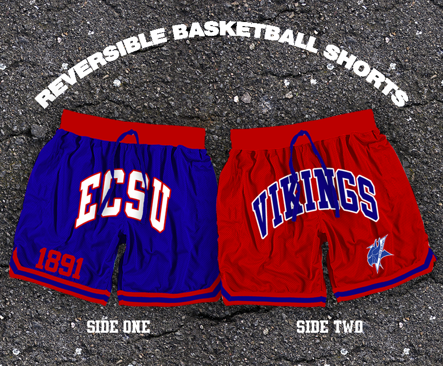 Reversible ECSU Vikings Basketball Shorts (Ships April 16)