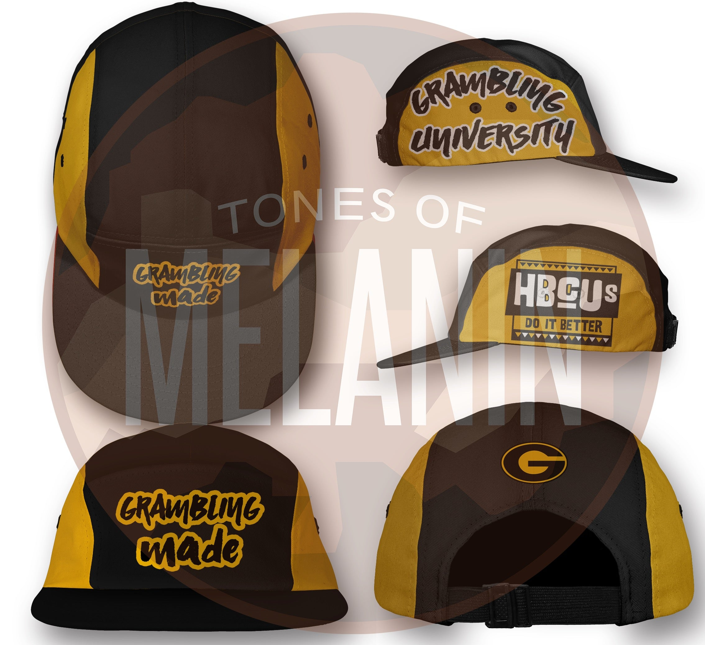 Grambling Nylon 5 Panel (Ships out 2/1)